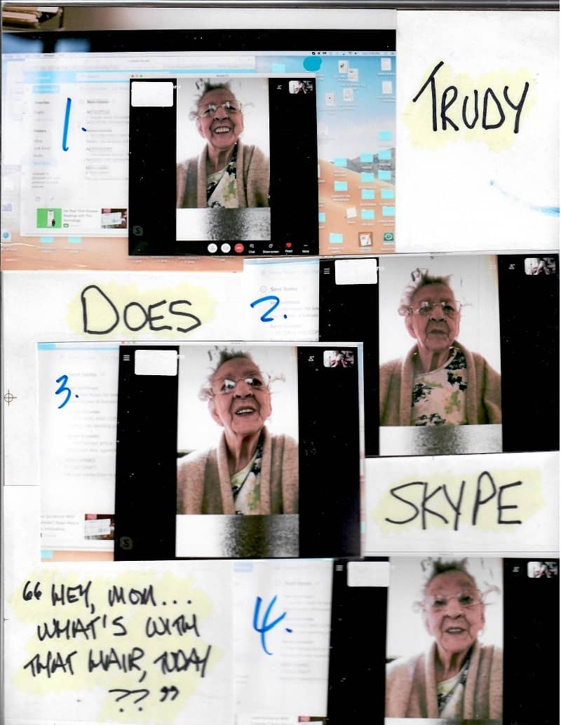 TRUDY DOES SKYPE